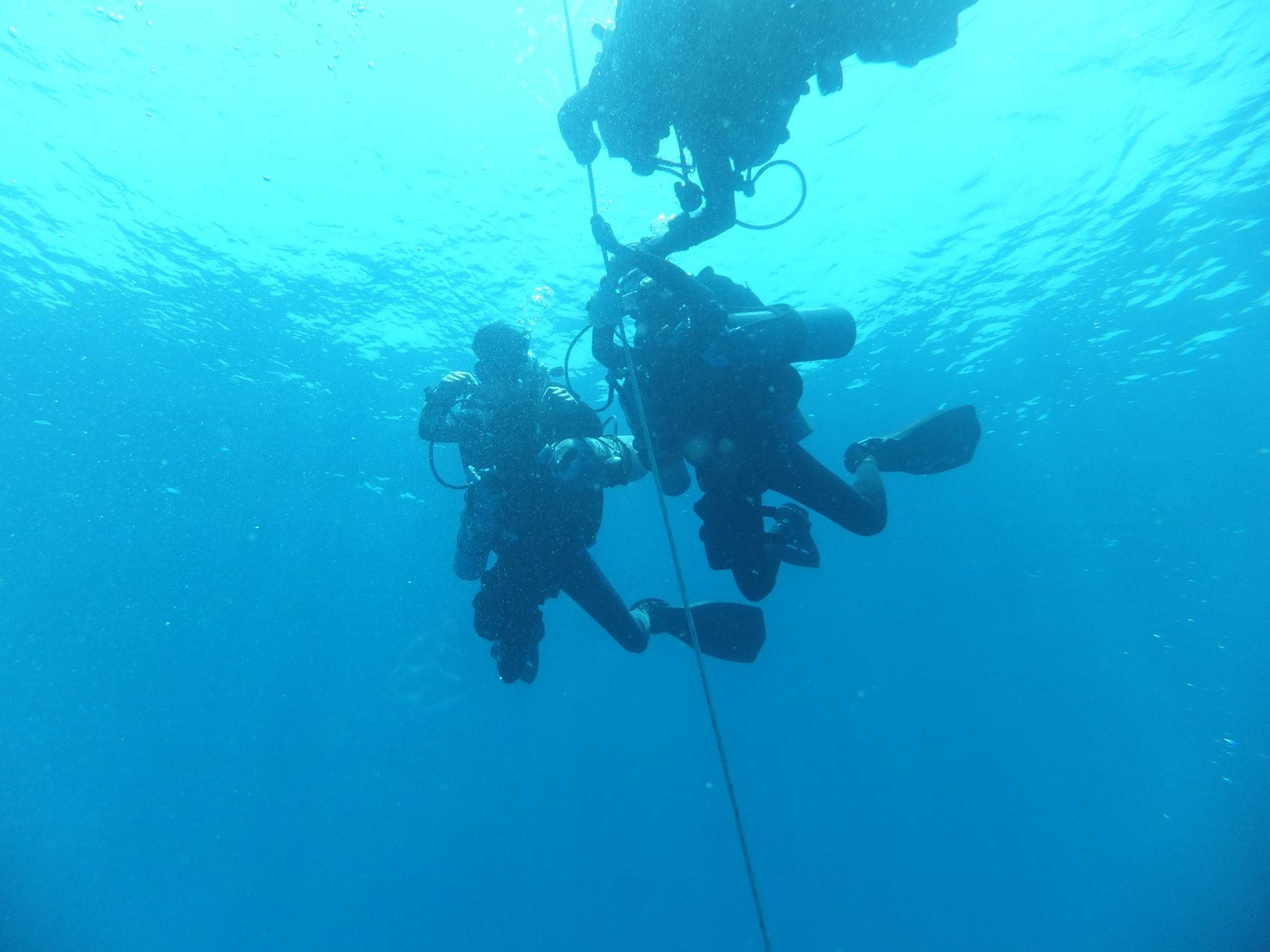 DJL tech crew near the surface