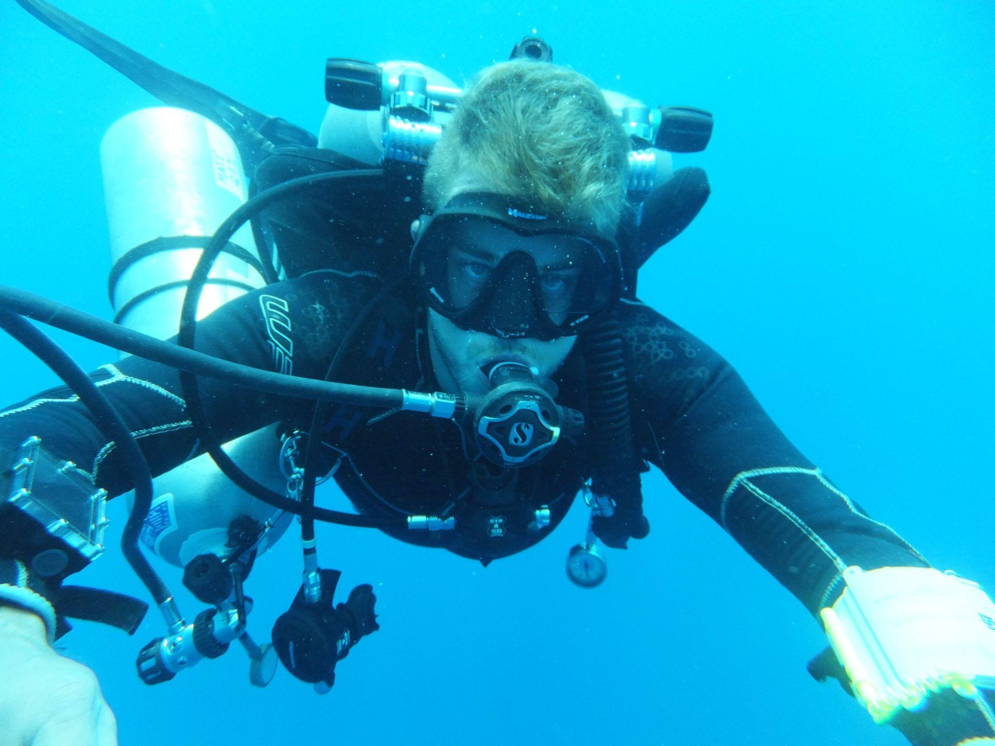 Matt in the water